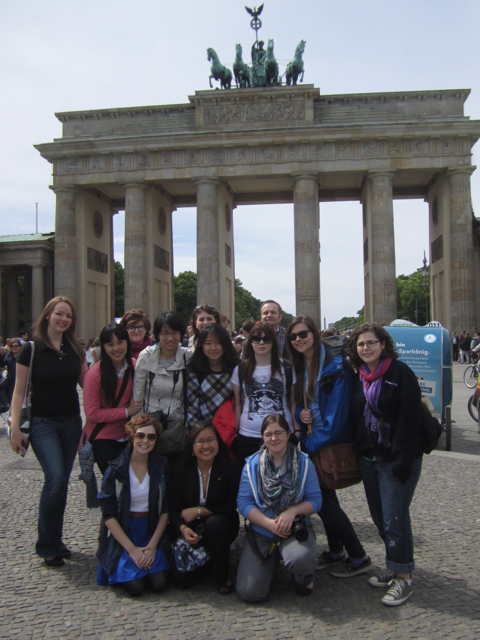 ASC students in front of the Brandenburg Gate, Berlin