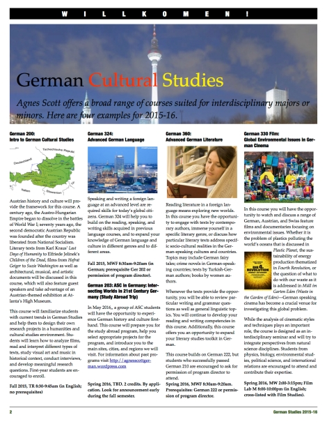 New German Studies Courses2015-16