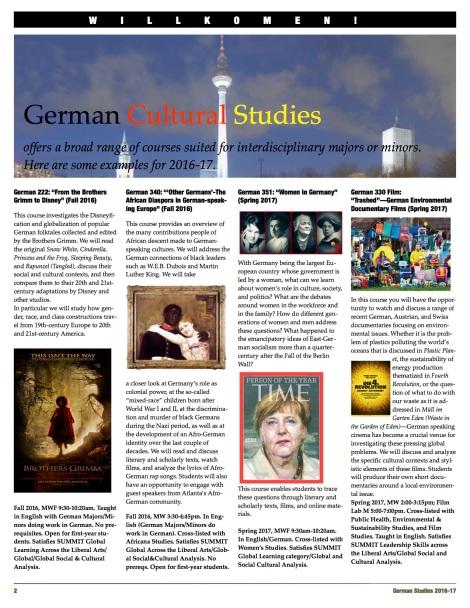 German Studies & GlobalLearning