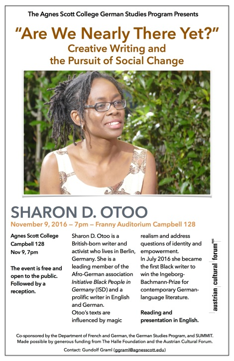 Visit by German Activist/Writer Sharon Otoo