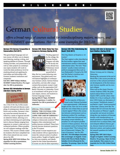 German Studies Courses 2017-18