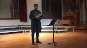 "Lyrik Courtney performs Barbara Köhler's elogy ""Ingeborg Bachmann stirbt in Rom"""