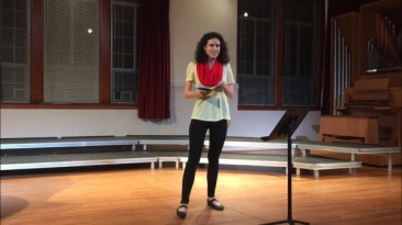 "Lucie Blaise performs the Catalan poem ""L'aiguera"" by Celia Sanchez-Mustich"